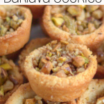 pinterest image for Keto baklava cookies
