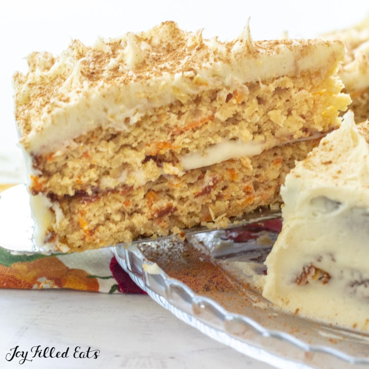 Keto Carrot Cake With Cream Cheese Frosting Low Carb Gluten Free