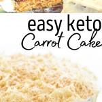 pinterest image for keto carrot cake
