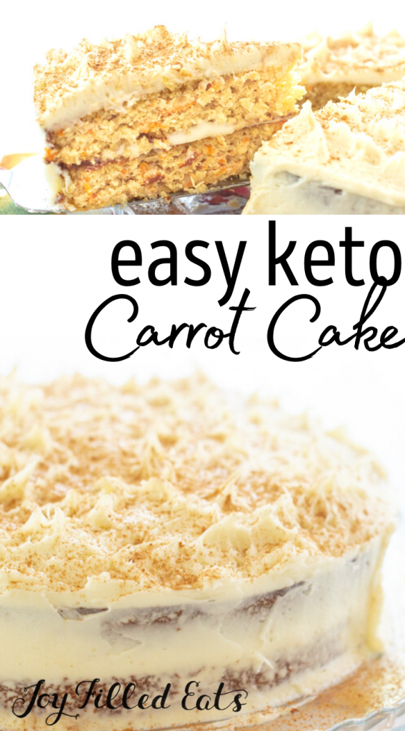 pinterest image for keto carrot cake