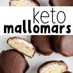 pinterest image for keto mallomars recipe