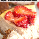pinterest image for keto strawberry cheesecake