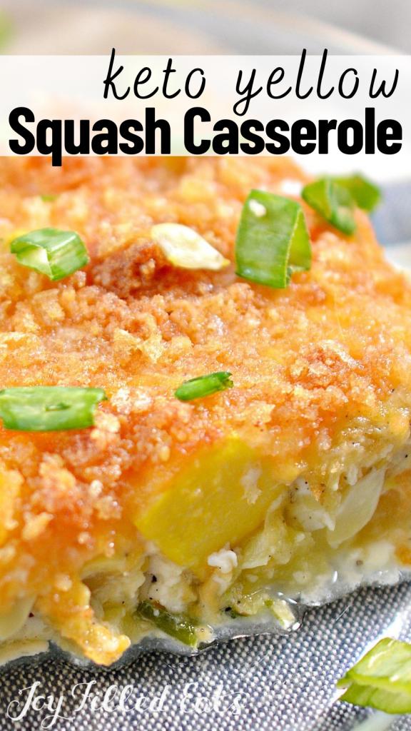 pinterest image for yellow squash casserole
