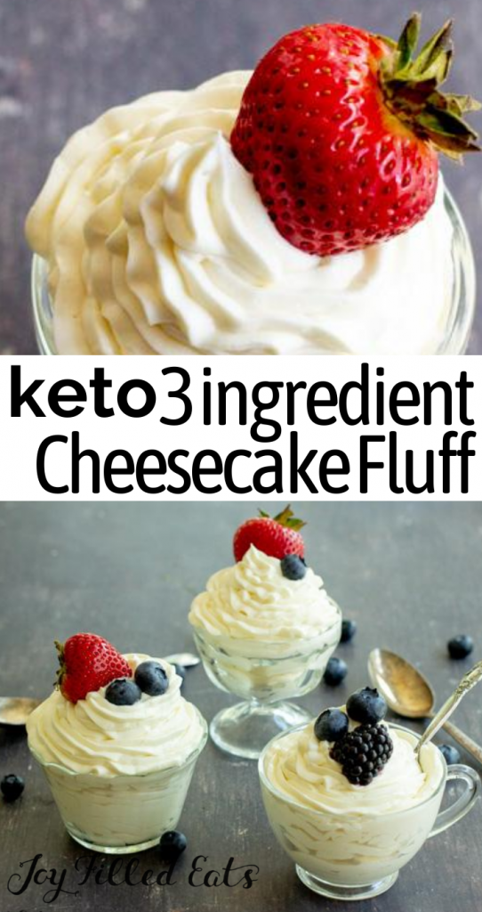pinterest image for Keto Cheesecake Fluff