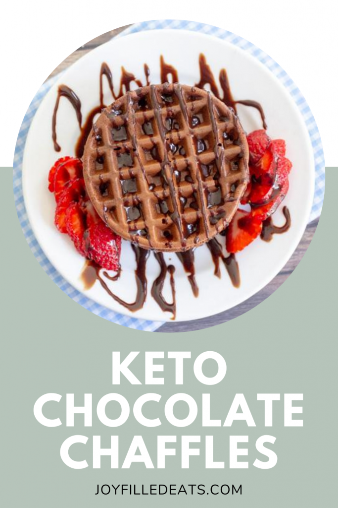 pinterest image for keto chaffle recipe