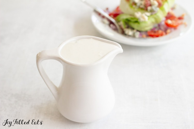 small pitcher with dressing