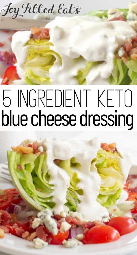 pinterest image for keto blue cheese dressing