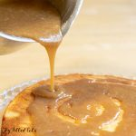 pinterest image for keto caramel sauce