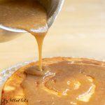 pinterest image for keto caramel sauce