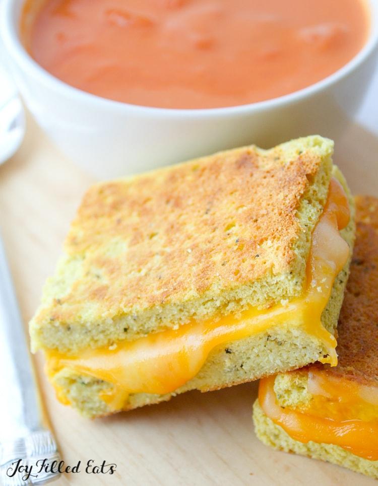 sandwich next to soup