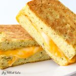 keto grilled cheese on a plate