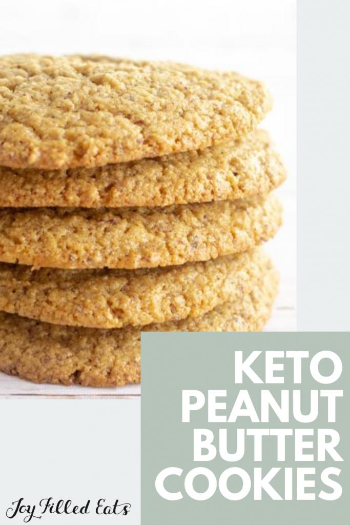 pinterest image for almond flour peanut butter cookies