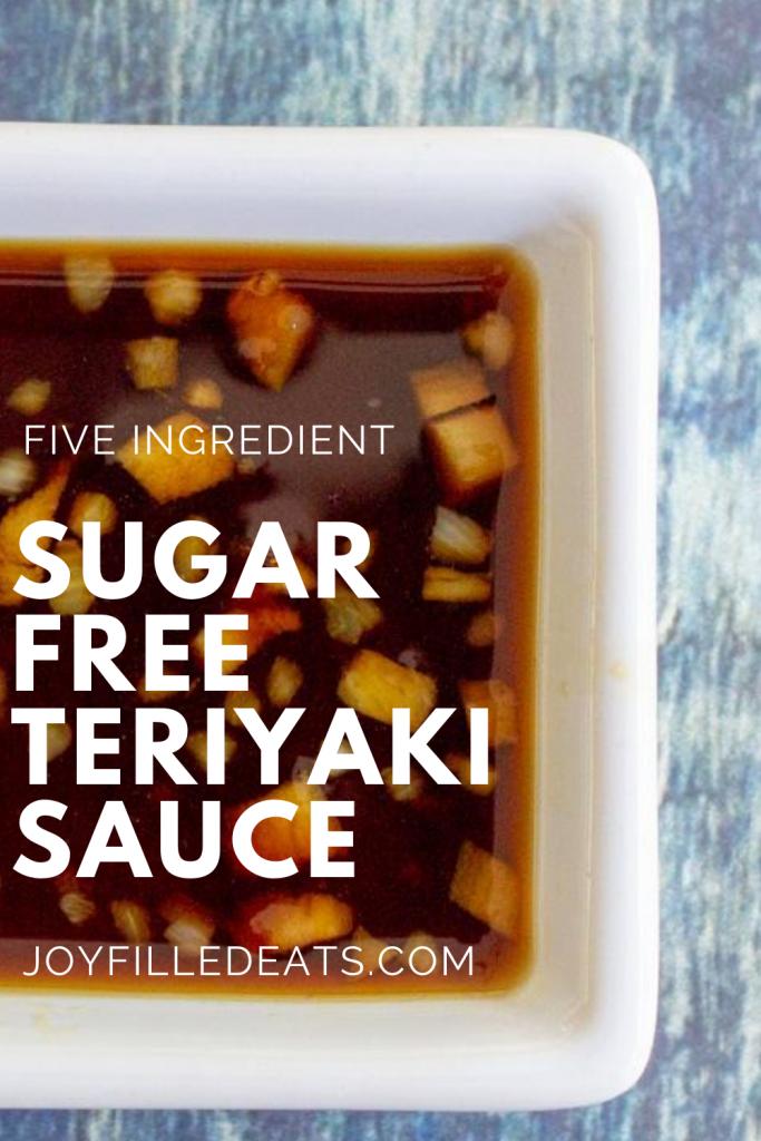 pinterest image for keto teriyaki sauce
