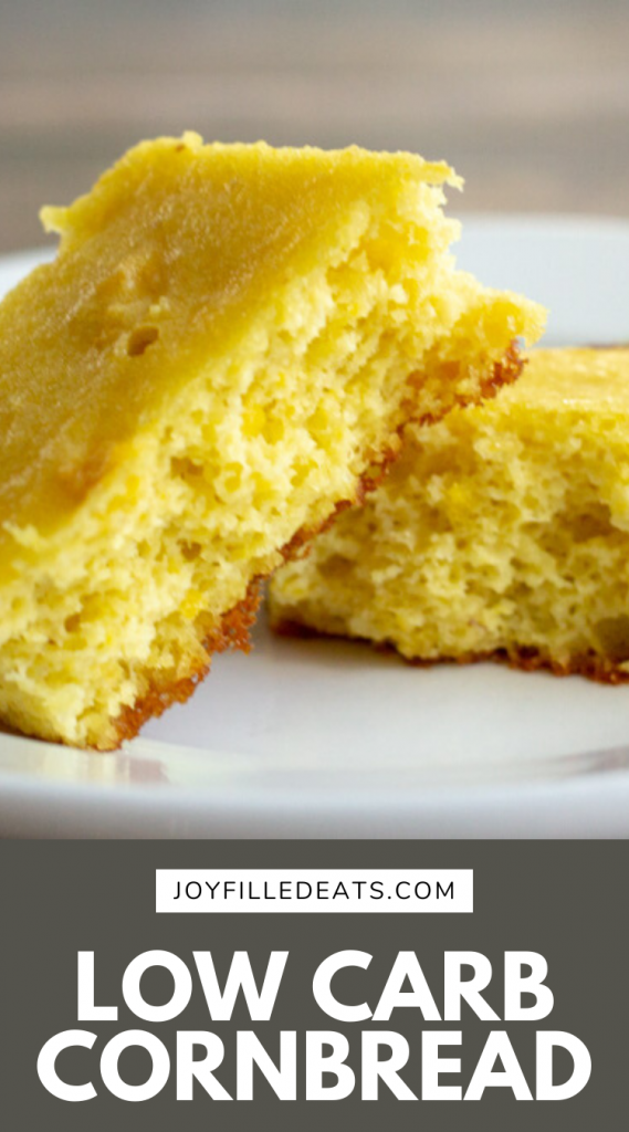 pinterest image for low carb corn bread