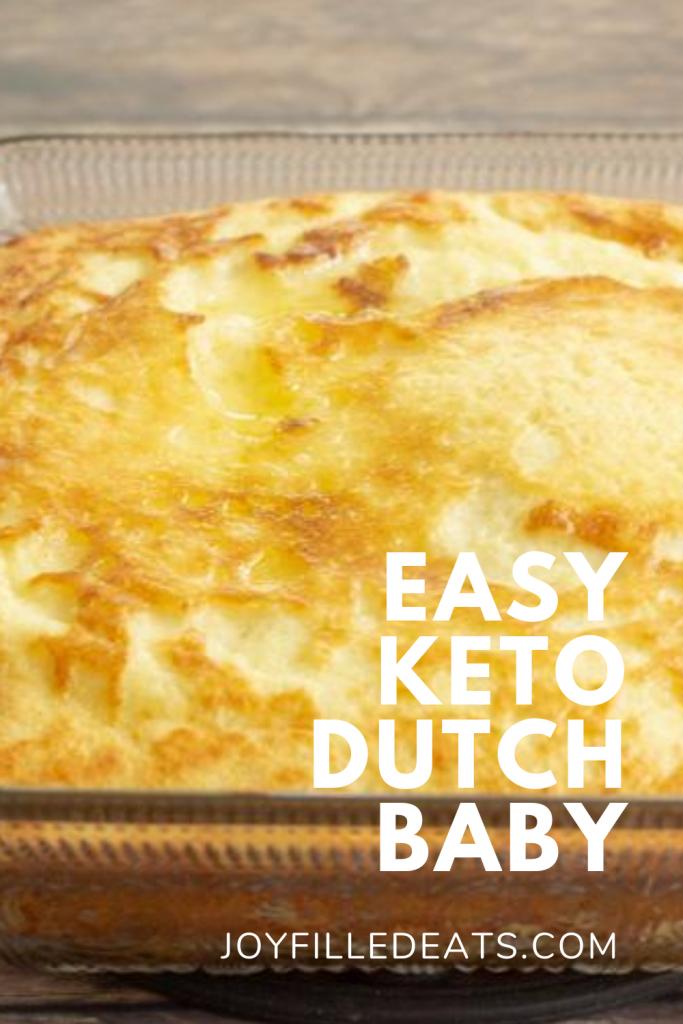 pinterest image for keto dutch baby