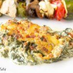 a serving of creamed spinach on a plate