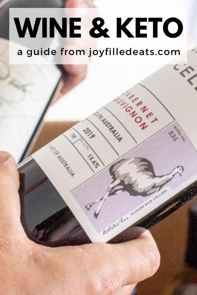 pinterest image for wine on keto