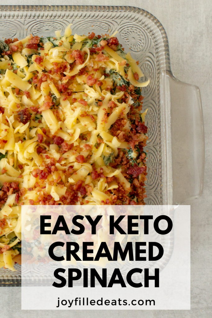 pinterest image for keto creamed spinach