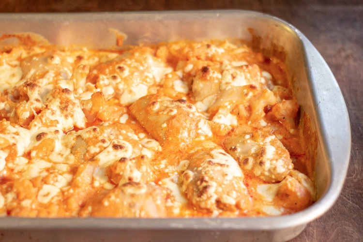 baked chicken in casserole pan