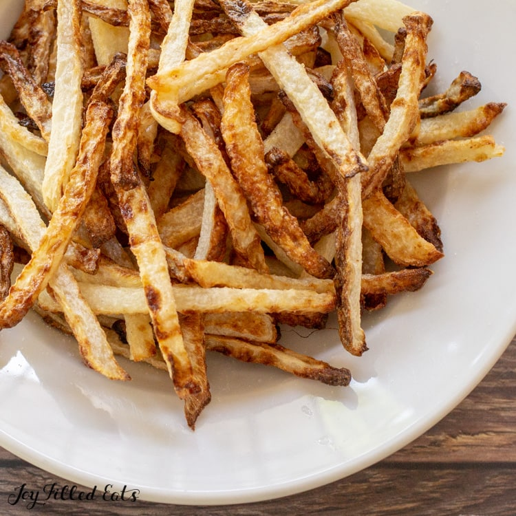 close up of keto fries in a bowl