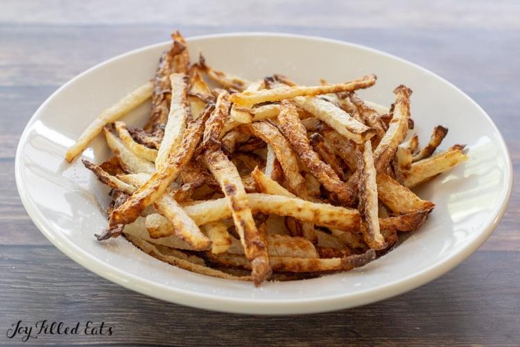 bowl of jicama french fries