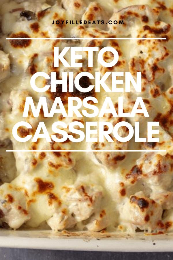 pinterest image for keto chicken marsala
