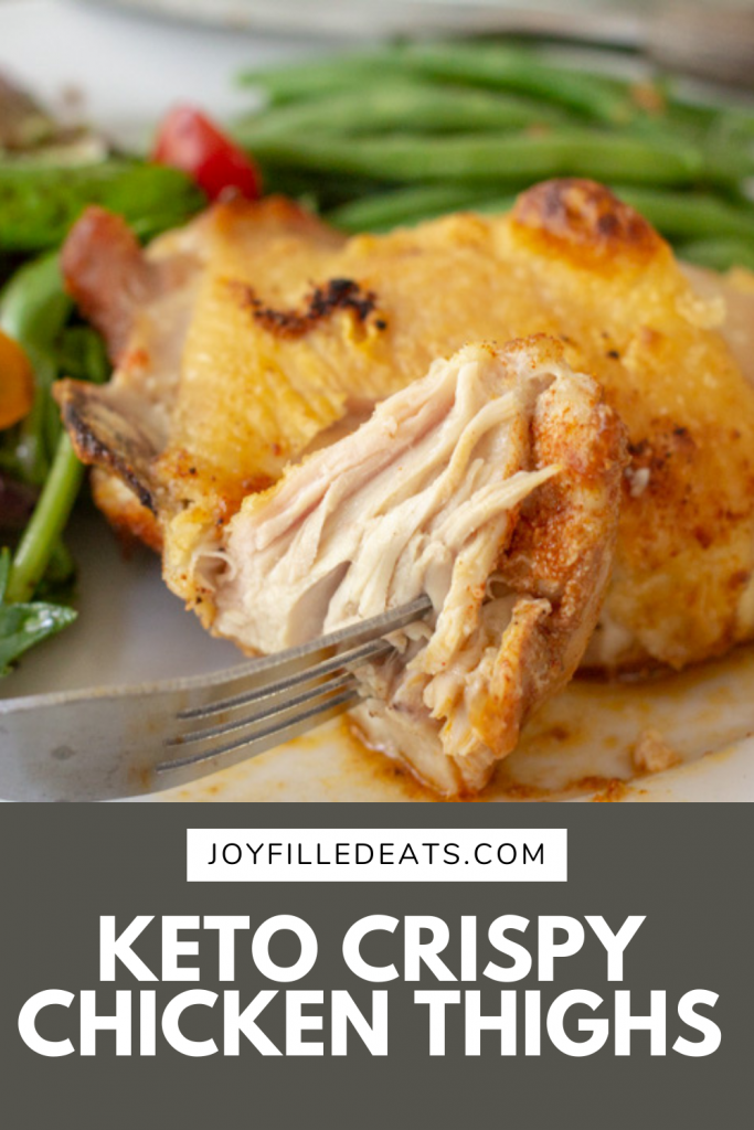 pinterest image for keto chicken thighs