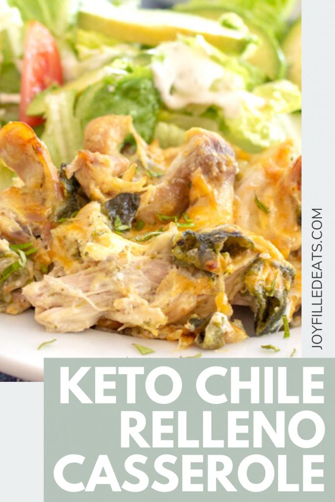 pinterest image of the keto chile relleno casserole