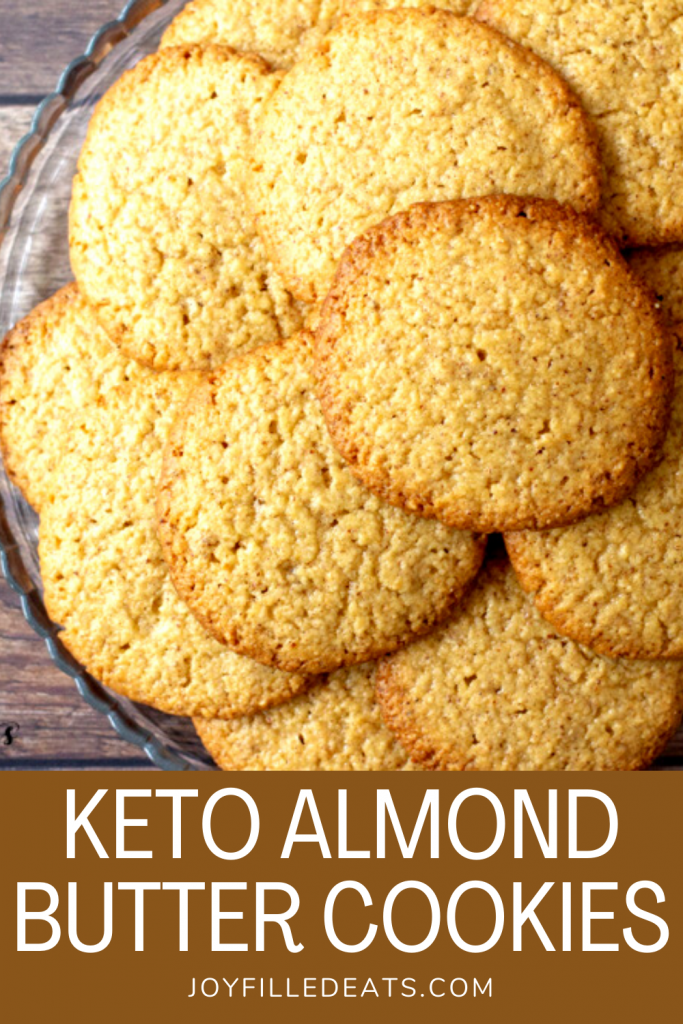 pinterest image for keto almond butter cookies