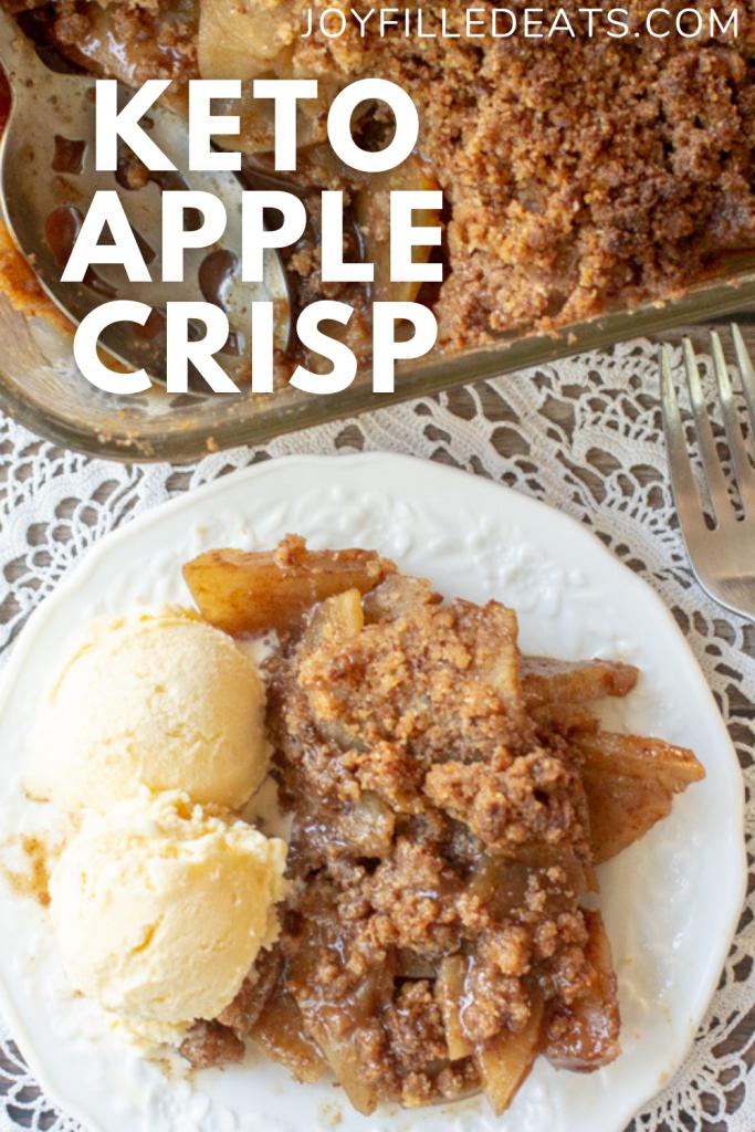 pinterest image for keto apple crisp