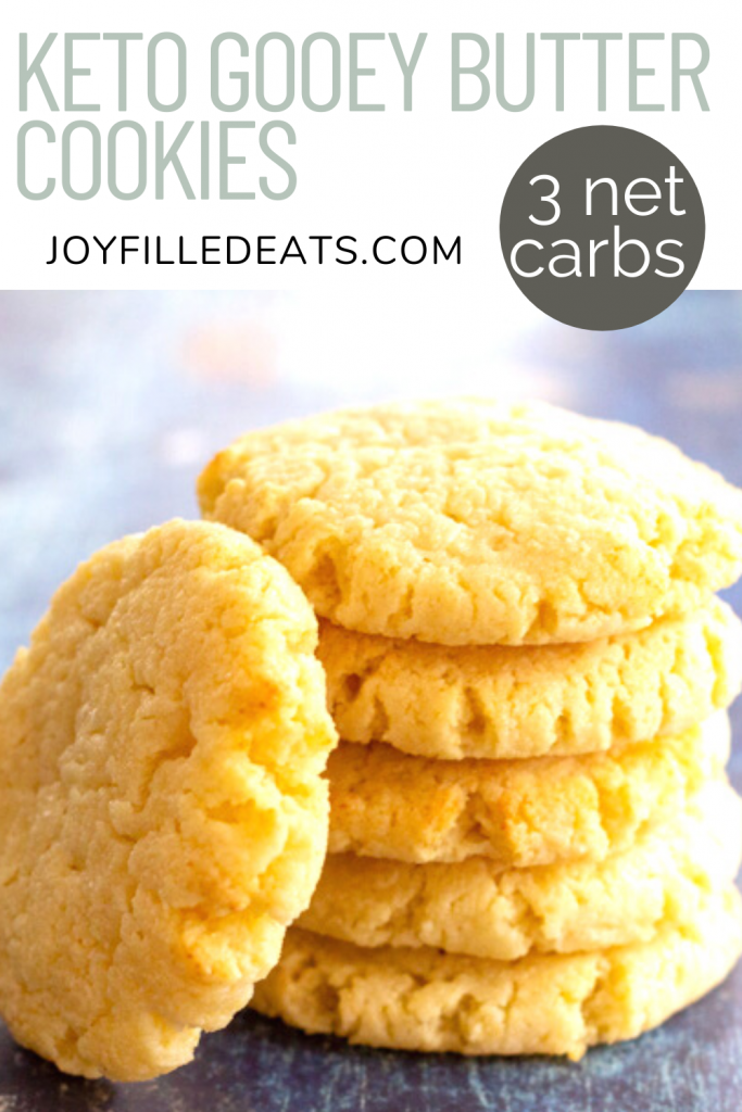 pinterest image for keto butter cookies