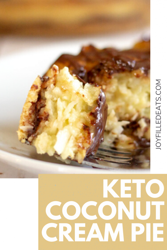 pinterest image for keto coconut cream pie