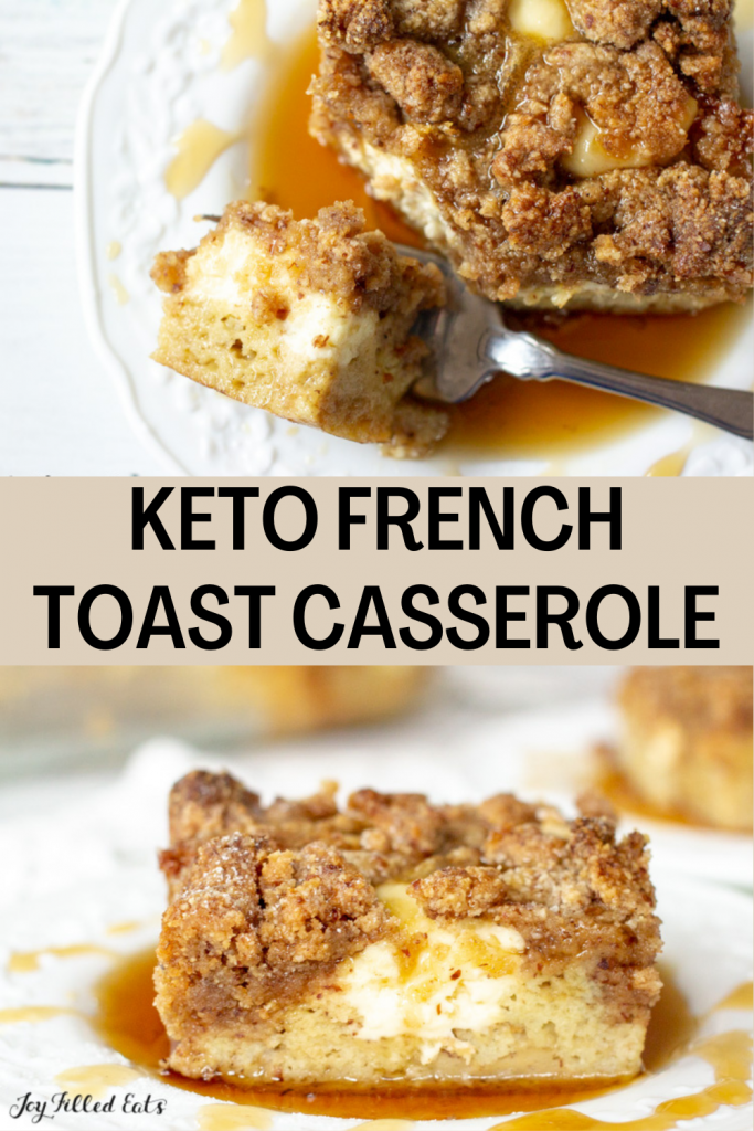 pinterest image for keto french toast casserole