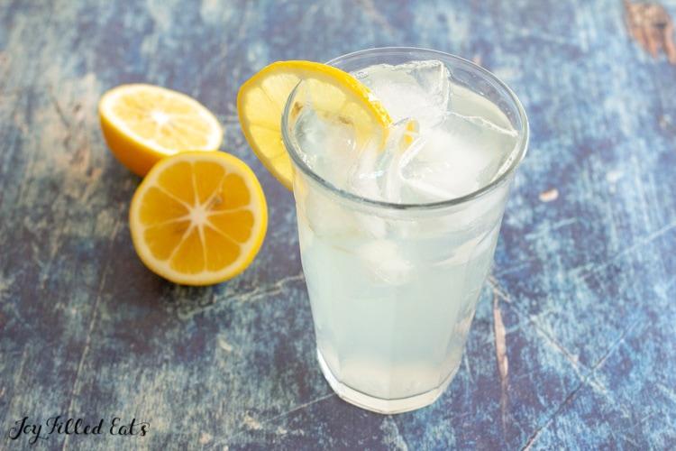 glass of keto lemonade