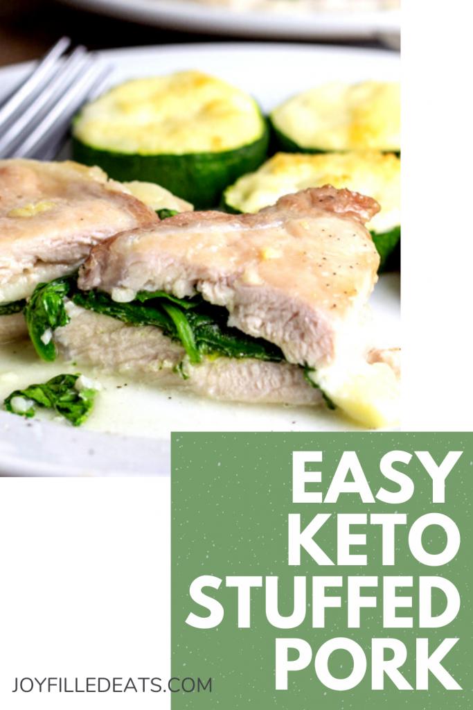 pinterest image for keto pork chops