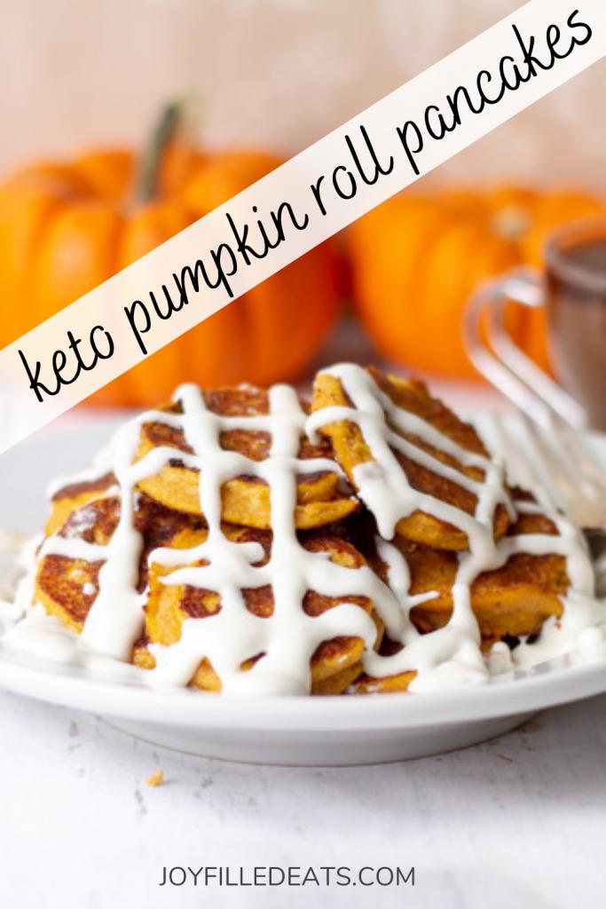 pinterest image for keto pumpkin twists