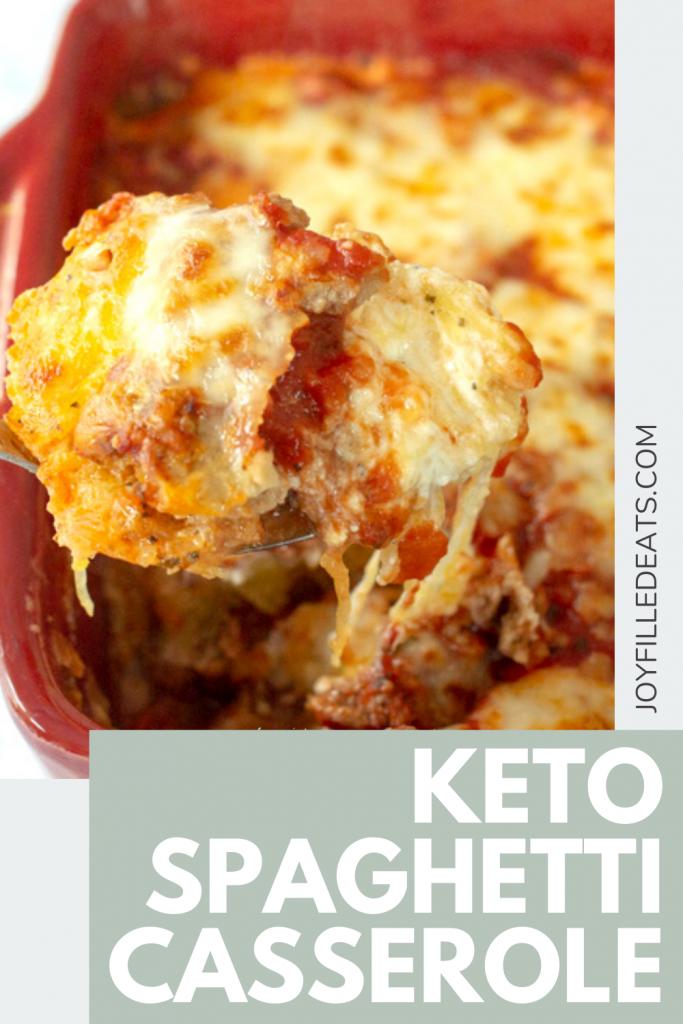 pinterest image for keto spaghetti casserole