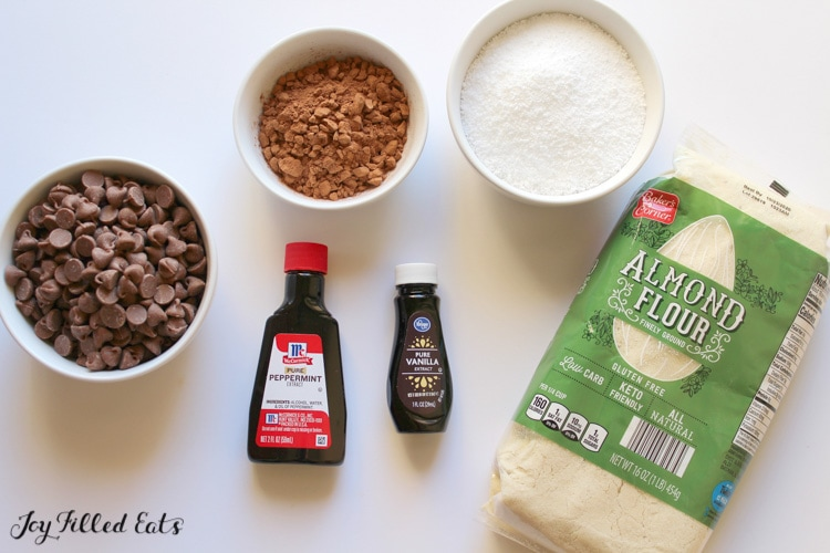 ingredients for the cookie recipe