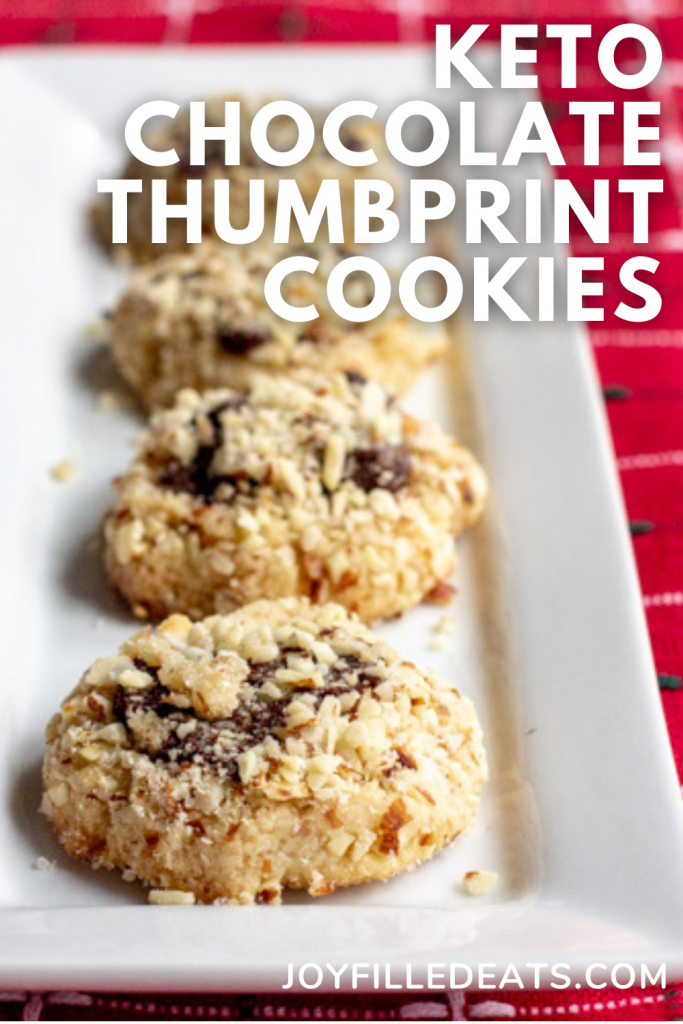 pinterest image for chocolate thumbprint cookies