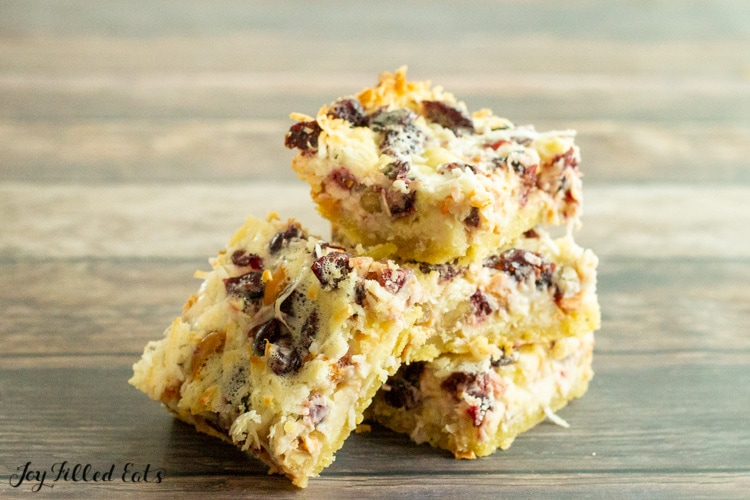three of the seven layer bars stacked up