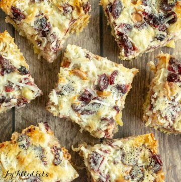 keto white chocolate bars with cranberries