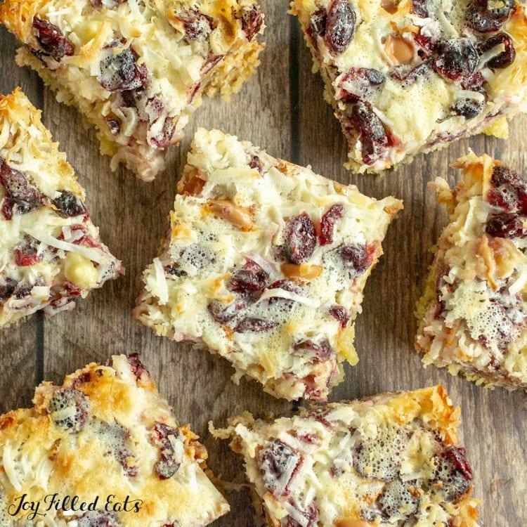 keto white chocolate bars with cranberries