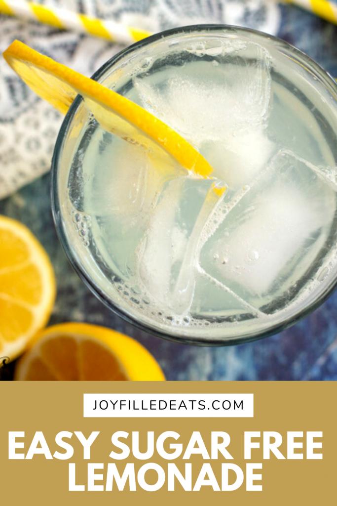 pinterest image for Easy sugar free lemonade