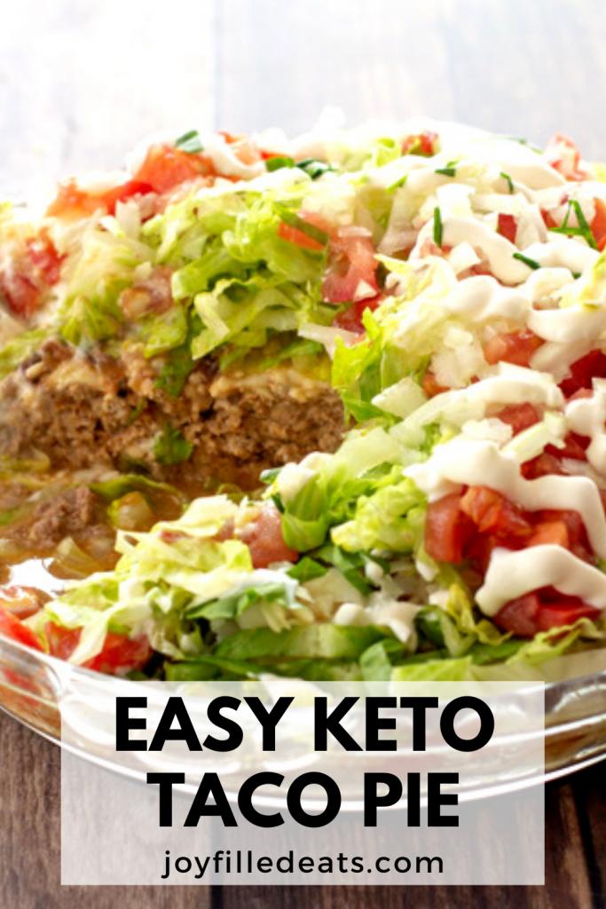 pinterest image for keto taco pie