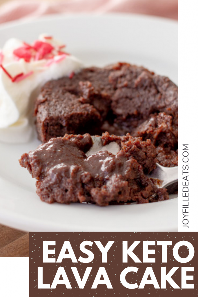 pinterest image for keto lava cake