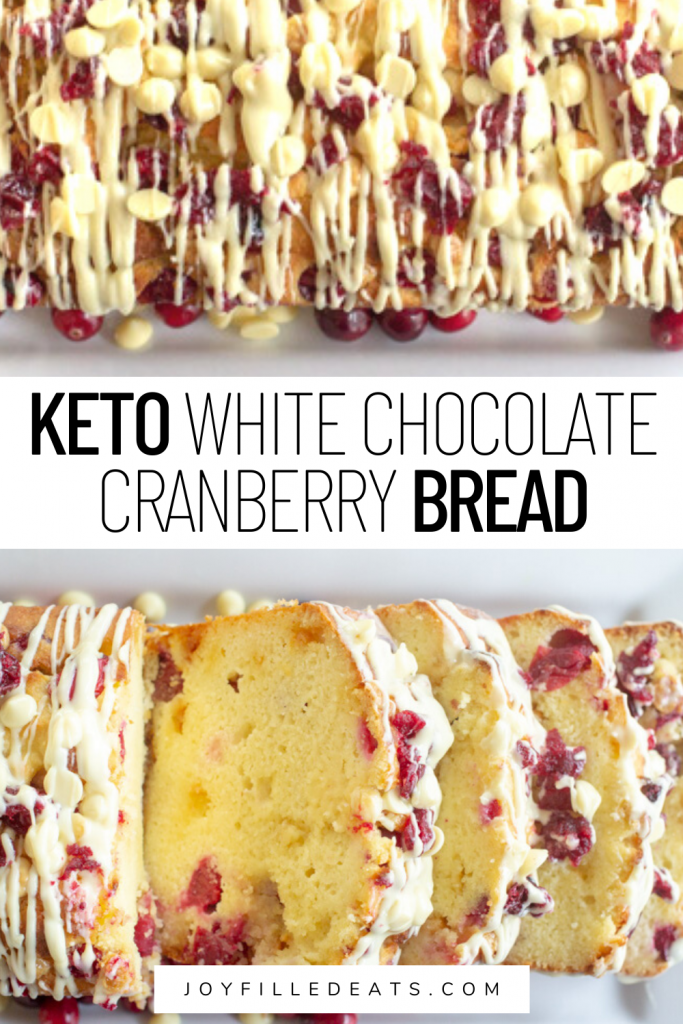 pinterest image for white chocolate cranberry bread