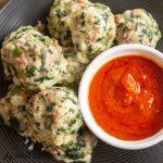 plate of italian sausage meatballs