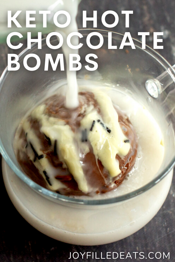 pinterest image for hot chocolate bombs
