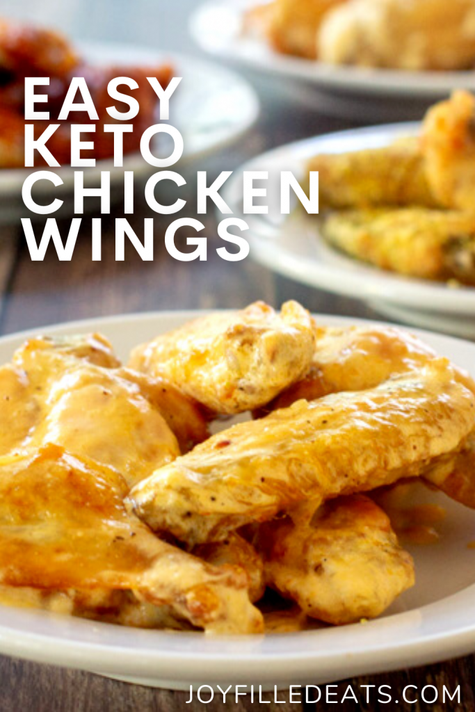 pinterest image for keto chicken wings