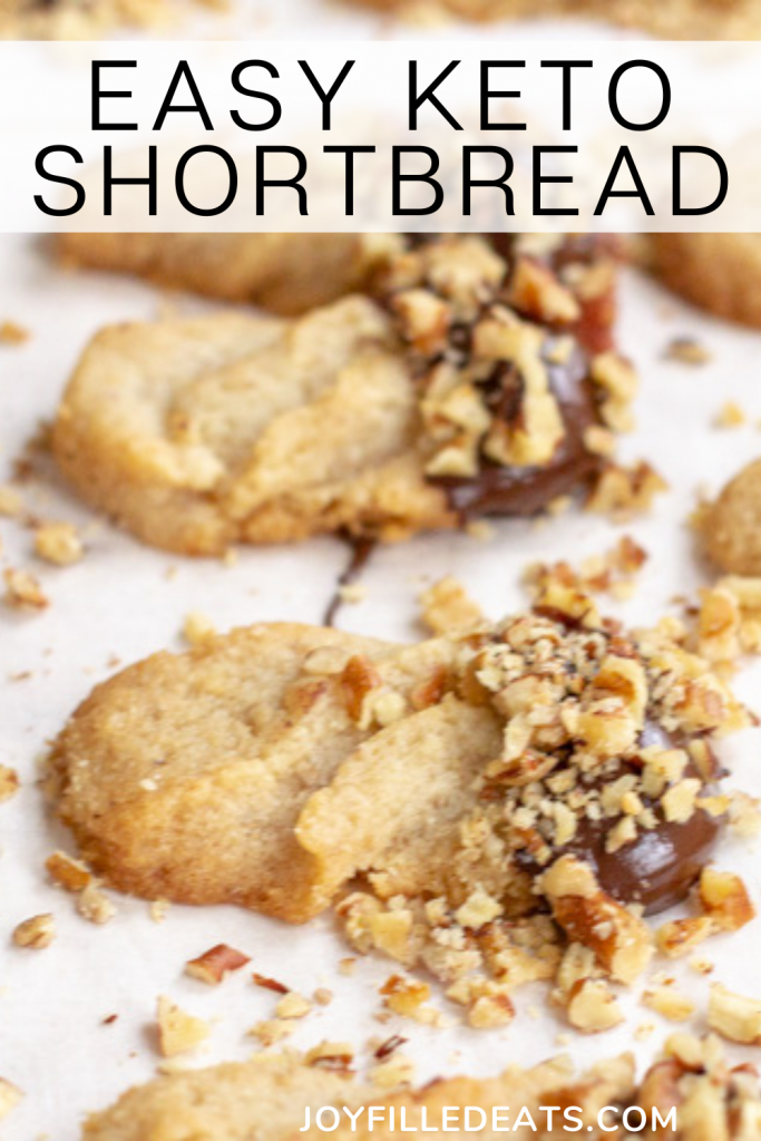 pinterest image for keto shortbread cookies
